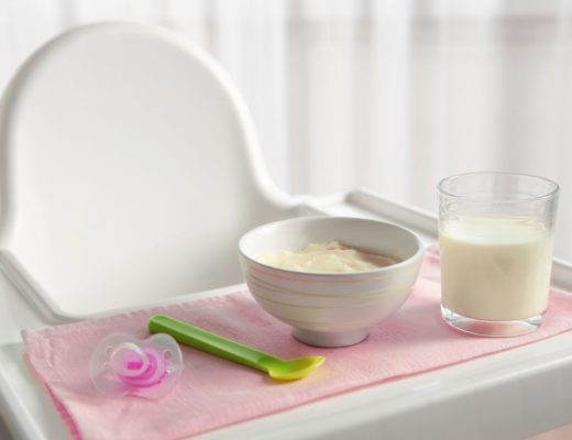 ikea highchair tray with food