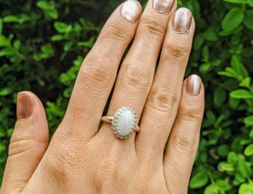 diy breast milk ring on finger